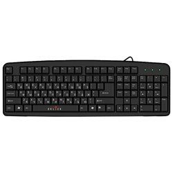oklick 100 m standard keyboard black ps/2 (черный)