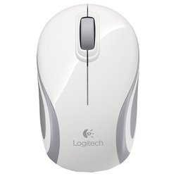 Logitech Wireless Mini Mouse M187 USB (белый-серебристый)
