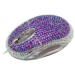 satzuma diamante mouse purple usb