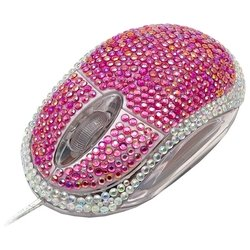 satzuma diamante mouse pink usb