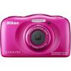 Nikon Coolpix W100 (розовый) - Фотоаппарат цифровойЦифровые фотоаппараты<br>Компактная фотокамера, матрица 14.17 МП (1/3.1), съемка видео Full HD, оптический зум 3x, экран 2.7, Wi-Fi, Bluetooth, влагозащищенный корпус, вес с элементами питания 177 г, режим макросъемки.<br>