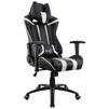 Aerocool AC120 AIR (черный, белый) - Стул офисный, компьютерныйКомпьютерные кресла<br>Кресло для геймера, с перфорацией, до 150 кг, материал крестовины и подлокотников пластик, высокая спинка, материала обивки: искусственная кожа, регулировка высоты, механизм качания.<br>