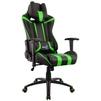 Aerocool AC120 AIR (черный, зеленый) - Стул офисный, компьютерныйКомпьютерные кресла<br>Кресло для геймера, с перфорацией, до 150 кг, материал крестовины и подлокотников пластик, высокая спинка, материала обивки: искусственная кожа, регулировка высоты, механизм качания.<br>