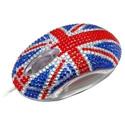 satzuma diamante mouse blue-red usb