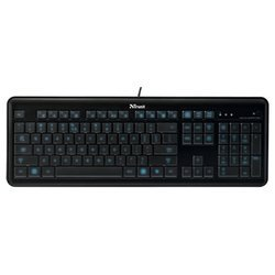 trust elight led illuminated keyboard black usb