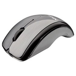 trust curve wireless laser mouse silver-black usb