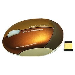 e-blue coo 2.4ghz series wireless mouse ems090go gold usb