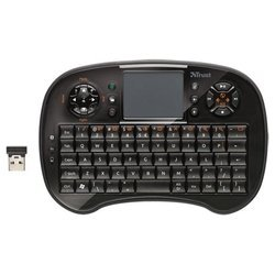 trust tocamy wireless entertainment keyboard black usb
