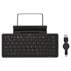 trust wireless keyboard with stand for ipad black bluetooth