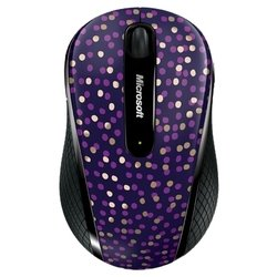 microsoft wireless mobile mouse 4000 limited edition eggplant dot blue pink usb