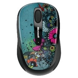 microsoft wireless mobile mouse 3500 artist edition linn olofsdotter green-black usb