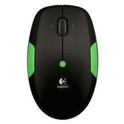 Logitech Wireless Mouse M345 USB (черный-зеленый)