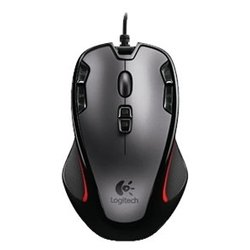 logitech gaming mouse g300 silver-black usb