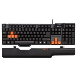 trust gxt 18 gaming keyboard black usb