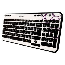 logitech wireless keyboard k360 purple pebbles usb