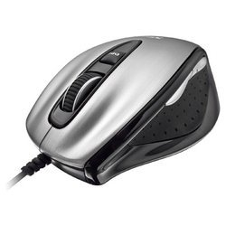 trust silverstone laser mouse silver-black usb