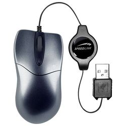 speedlink pica flexcable micro mouse retractable sl-6164-sgy dark silver usb