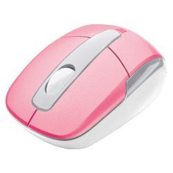 trust wireless mini travel mouse pink usb
