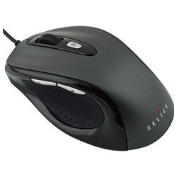 oklick 404 m optical mouse black-dark grey usb (черно-серый)