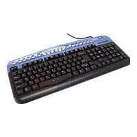 oklick 330 m multimedia keyboard black-blue usb+ps/2 (черный/голубой)