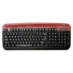 oklick 300 m office keyboard red ps/2