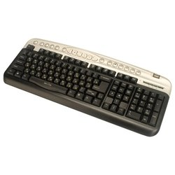 oklick 330 m multimedia keyboard black-silver ps/2