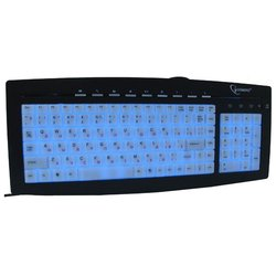 gembird kb-9835l black-blue ps/2