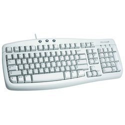 microsoft basic keyboard white ps/2