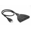 Переходник 3хHDMI -  USB (Greenline GL-v301ZP) (черный) - Usb, hdmi кабель, переходникUSB-, HDMI-кабели, переходники<br>Предназначен для подключения нескольких источников цифрового HDMI сигнала к HD-телевизору, проектору или монитору. С помощью переключателя входного сигнала осуществляется одновременное подключение всех источников и последующее переключение между ними.<br>