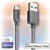 Кабель USB - Lightning для 5, 5S, SE, 5C, 6, 6 Plus, 6S, 6S Plus, 7, 7 Plus, 8, 8 Plus, X, 4, Air, Air 2, mini, mini 2, mini 3, mini 4, ipad 2017, pro 9.7, pro 12.9, pro 10.5 (Ginzzu GC-550B) (черный) - Usb, hdmi кабель, переходникUSB-, HDMI-кабели, переходники<br>Для зарядки и синхронизации планшетов и смартфонов APPLE с компьютером. Нейлоновая оплетка. Алюминиевый коннектор. Ток нагрузки: 2.4А.<br>
