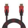 Кабель HDMI 19 pin M-HDMI 19 pin M 2м (Jet.A JA-HD9) (черно-красный) - HDMI кабель, переходникHDMI кабели и переходники<br>Кабель HDMI 19 pin M-HDMI 19 pin M, версия 2.0, поддержка 3D: Full HD 3D, поддержка Full HD, поддержка Ethernet, поддержка Ultra HD 4K, позолоченные контакты, нейлоновая оплетка, длина 2м.<br>