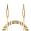 Аудио-кабель mini jack 3.5 мм M - mini jack 3.5 мм M 1м (Jet.A JA-AC02) (золотистый) - Кабель, разъем для акустической системыКабели и разъемы для акустических систем<br>Соединительный аудио-кабель, разъемы mini jack 3.5 мм M-mini jack 3.5 мм M, длина 1м, нейлоновая оплетка.<br>