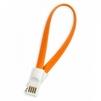 Дата-кабель USB - 30-pin для Apple iPhone 3GS, 4, 4S, iPad, 2, 3 new, iPod Nano 6, touch 4 (Smartbuy iK-402m) (оранжевый) - Usb, hdmi кабель, переходникUSB-, HDMI-кабели, переходники<br>Кабель с разъемами USB - 30-pin, интерфейс USB 2.0, скорость передачи данных до 480 Мбит/сек, магнитные коннекторы, длина 0.2 м.<br>