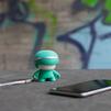 Xoopar mini Xboy (XBOY81001.30A) (мятный) - Колонка для телефона и планшетаПортативная акустика<br>Источник звука, будь то плеер, смартфон или планшетный компьютер, может быть подключен к Xoopar Mini Xboy посредством беспроводной технологии Bluetooth.<br>