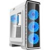GameMax Pardo White (без БП) - КорпусКорпуса<br>Корпус, Midi-Tower, ATX, синяя подсветка, безинструментальный и безвинтовой доступ к внутренним комплектующим, нижнее расположение блока питания в корпусе.<br>