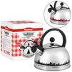 Чайник MALLONY MAL-CITY-01 - Посуда для готовкиПосуда для готовки<br>MALLONY MAL-CITY-01 - чайник, объем 3 л, со свистком, материал нержавеющая сталь, термоизолированная ручка, терморисунок, толщина стенок 0.4 мм.<br>