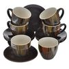 Кофейный набор Bekker BK-6808 - Посуда для готовкиПосуда для готовки<br>Изготовлен из жаропрочной керамики. В набор входит:  шесть чашек, шесть блюдец и одна подставка. Диаметр чашки: 6.5 см, высота чашки: 6 см, диаметр блюдца: 11 см, объем чашки: 90 мл, размер подставки:  12 см х 16 см х 17 см.<br>