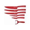 Набор ножей KELLI KL-2133 - Нож кухонныйНожи кухонные<br>Материал лезвий: сталь. Покрытие: антибактериальное. 6 предметов: Нож поварской 20 см. Нож хлебный 20 см. Нож для резки 20 см. Нож универсальный 12 см. Нож овощной 9 см. Овощечистка с керамическим лезвием.<br>
