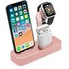 Док-станция для Apple iPhone, Watch, AirPods (COTEetCI Base19 CS7201-MRG) (розовое золото) - Док станцияДок-станции для мобильных телефонов, планшетов, умных часов<br>Док-станция для одновременной зарядки смартфона Apple iPhone с разъемом Lighting, смарт-часов и беспроводных наушников AirPods. Материал: алюминий. Установка: на любую плоскую поверхность.<br>