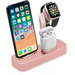 Док-станция для Apple iPhone, Watch, AirPods (COTEetCI Base19 CS7201-MRG) (розовое золото)