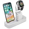 Док-станция для Apple iPhone, Watch, AirPods (COTEetCI Base19 CS7201-TS) (серебристый) - Док станцияДок-станции для мобильных телефонов, планшетов, умных часов<br>Док-станция для одновременной зарядки смартфона Apple iPhone с разъемом Lighting, смарт-часов и беспроводных наушников AirPods. Материал: алюминий. Установка: на любую плоскую поверхность.<br>