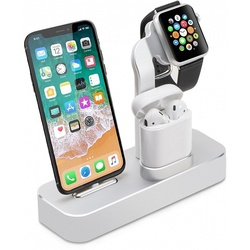 Док-станция для Apple iPhone, Watch, AirPods (COTEetCI Base19 CS7201-TS) (серебристый)