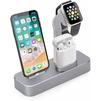 Док-станция для Apple iPhone, Watch, AirPods (COTEetCI Base19 CS7201-GY) (серый) - Док станция