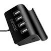 Концентратор 4хUSB-Type C-microUSB (Ginzzu GR-519UB) - USB HUBUSB HUB<br>Универсальный 4-х портовый OTG USB/Type C/microUSB концентратор-подставка. Интерфейсный кабель 40см.<br>