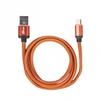 Кабель microUSB-USB 1м (Ritmix RCC-415) (оранжевый) - Usb, hdmi кабель, переходникUSB-, HDMI-кабели, переходники<br>Кабель для зарядки и синхронизации, металлические коннекторы, оплетка из экокожи, длина кабеля: 1 метр, ток: 2.5 A.<br>