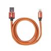 Кабель USB-Lightning 8 pin 1м (Ritmix RCC-425) (оранжевый) - Usb, hdmi кабель, переходникUSB-, HDMI-кабели, переходники<br>Кабель для зарядки и синхронизации, оплётка из экокожи, поддерживает интерфейс USB 2.0, длина кабеля: 1 метр, ток: 2.5A.<br>