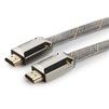 Кабель HDMI (M)-HDMI (M) 1м (Cablexpert CC-P-HDMI04-1M) (серый) - HDMI кабель, переходникHDMI кабели и переходники<br>Кабель HDMI (M)-HDMI (M), поддержка 3D изображения, поддержка Fast Ethernet-соединения, одновременная передача двух видеопотоков на одном экране, версия 2.0, армированная оплетка, позолоченные разъемы, длина 1м.<br>