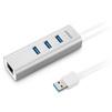 USB-хаб Anker Aluminium Ethernet Hub A7514041 (серебристый) - USB HUBUSB HUB<br>Anker Aluminium Ethernet Hub A7514041 - это стильный USB-хаб (пассивный), имеет разъем RJ-45, а также 3 разъема USB 3.0. Они обеспечивают передачу данных с максимальной скоростью 5 Гбит/с. LAN-соединение поддерживает пропускную способность 1 Гбит/с. Материал корпуса: алюминий, LED-индикация работы.<br>