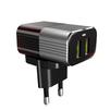 Сетевое зарядное устройство, адаптер 2хUSB, 2.4А (LDNIO A2206) (черный) + кабель USB-Lightning  - Сетевое зарядное устройствоСетевые зарядные устройства<br>Сетевое зарядное устройство для USB - устройств, количество портов - 2, питание - от сети переменного тока, выходной ток: 2.4А, материал корпуса: пластик, входное напряжение: 100-240 В, выходное напряжение: 5 В, система защиты от короткого замыкания и перепадов напряжения. Индикатор заряда, кабель: USB-Lightning, длина 1 м.<br>