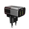 Сетевое зарядное устройство, адаптер 2хUSB, 2.4А (LDNIO A2206) (черный) + кабель USB-microUSB - Сетевое зарядное устройствоСетевые зарядные устройства<br>Сетевое зарядное устройство для USB - устройств, количество портов - 2, питание - от сети переменного тока, выходной ток: 2.4А, материал корпуса: пластик, входное напряжение: 100-240 В, выходное напряжение: 5 В, система защиты от короткого замыкания и перепадов напряжения. Индикатор заряда, кабель: USB-microUSB, длина 1 м.<br>